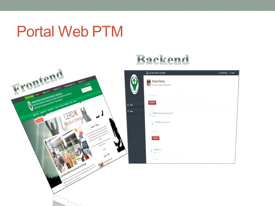 Portal Web PTM Backend Frontend