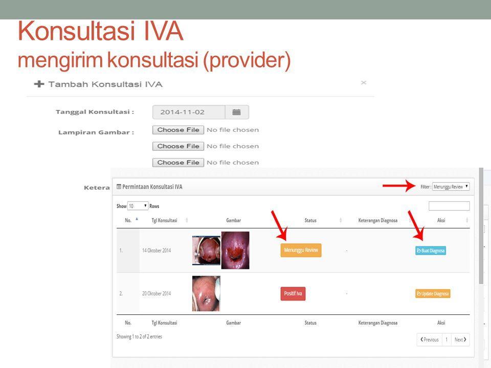 Konsultasi IVA mengirim konsultasi (provider)