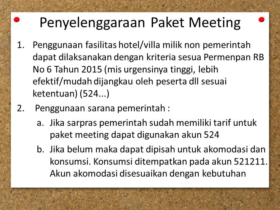 Penyelenggaraan Paket Meeting
