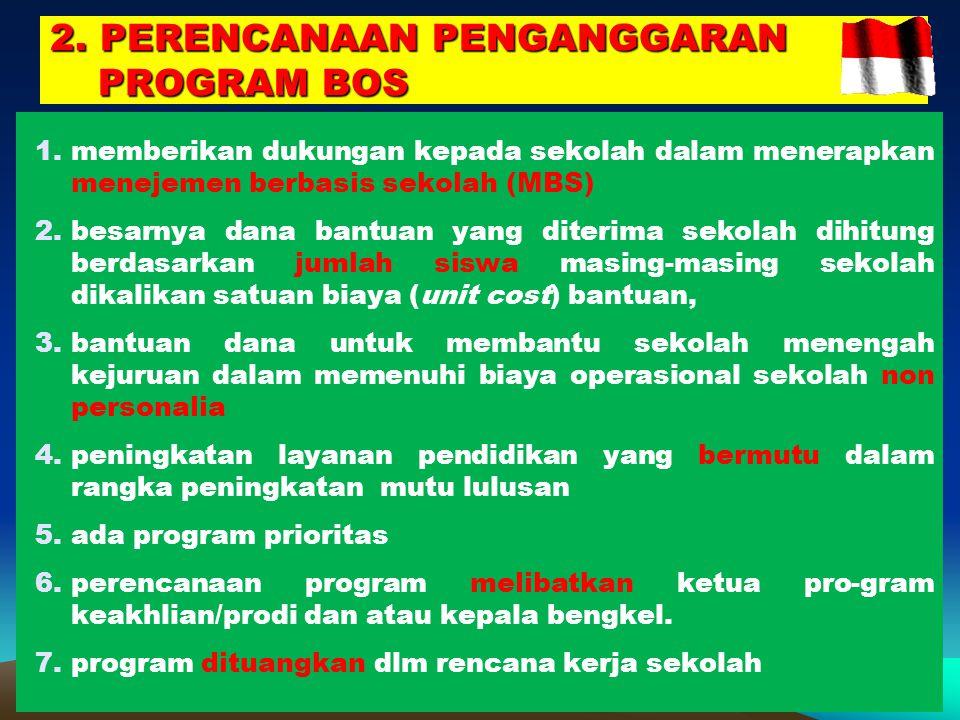 2. PERENCANAAN PENGANGGARAN PROGRAM BOS