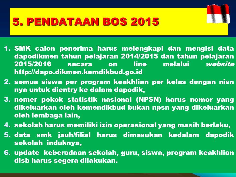5. PENDATAAN BOS 2015