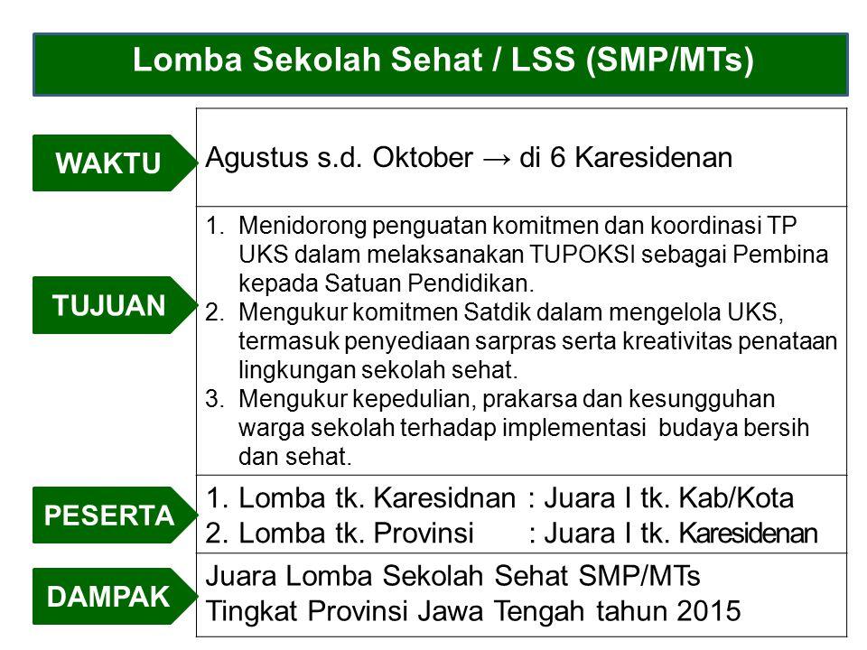 Lomba Sekolah Sehat / LSS (SMP/MTs)
