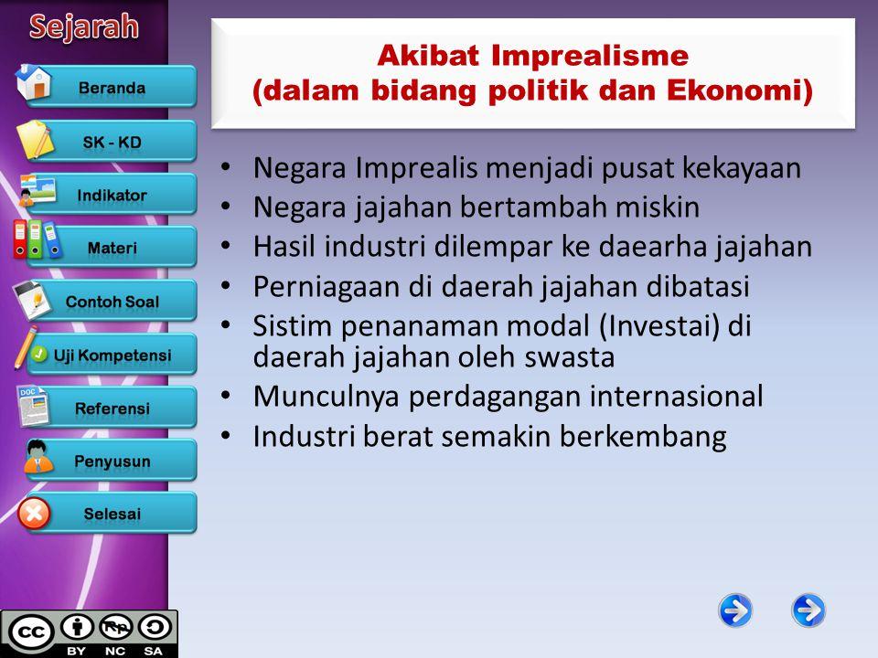 Akibat Imprealisme (dalam bidang politik dan Ekonomi)