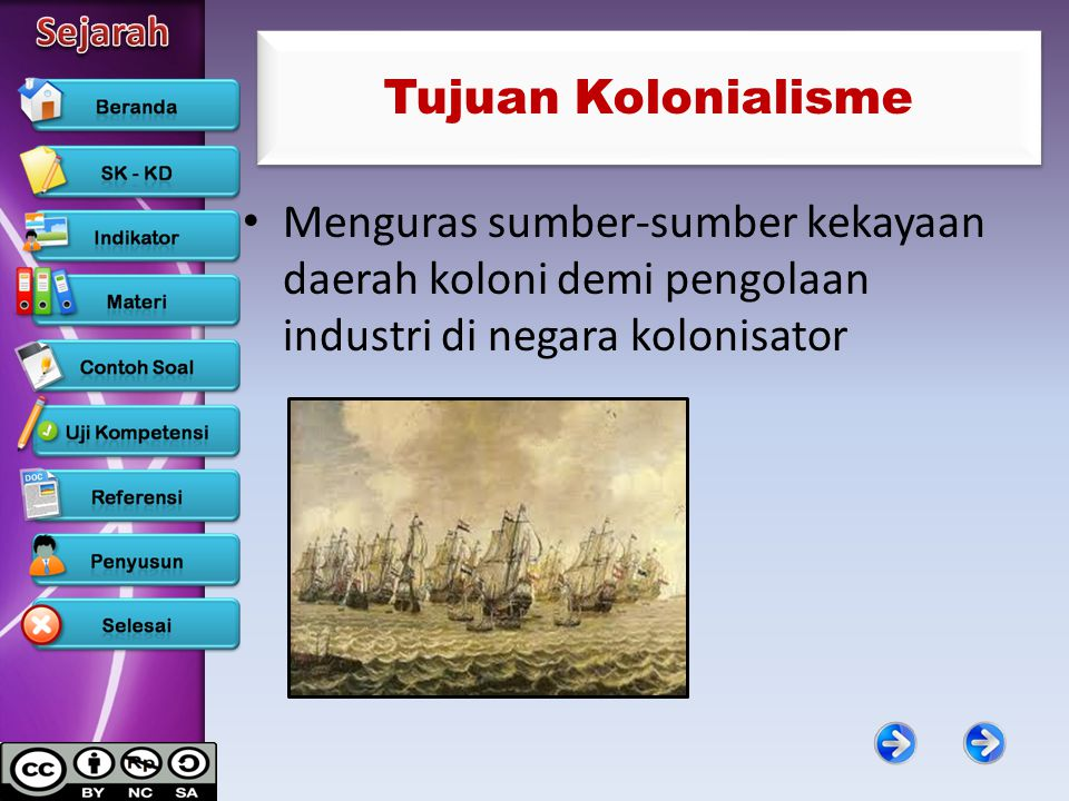 Tujuan Kolonialisme Menguras sumber-sumber kekayaan daerah koloni demi pengolaan industri di negara kolonisator.