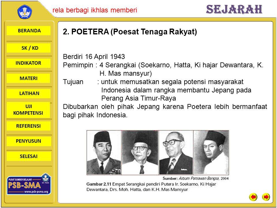 2. POETERA (Poesat Tenaga Rakyat)