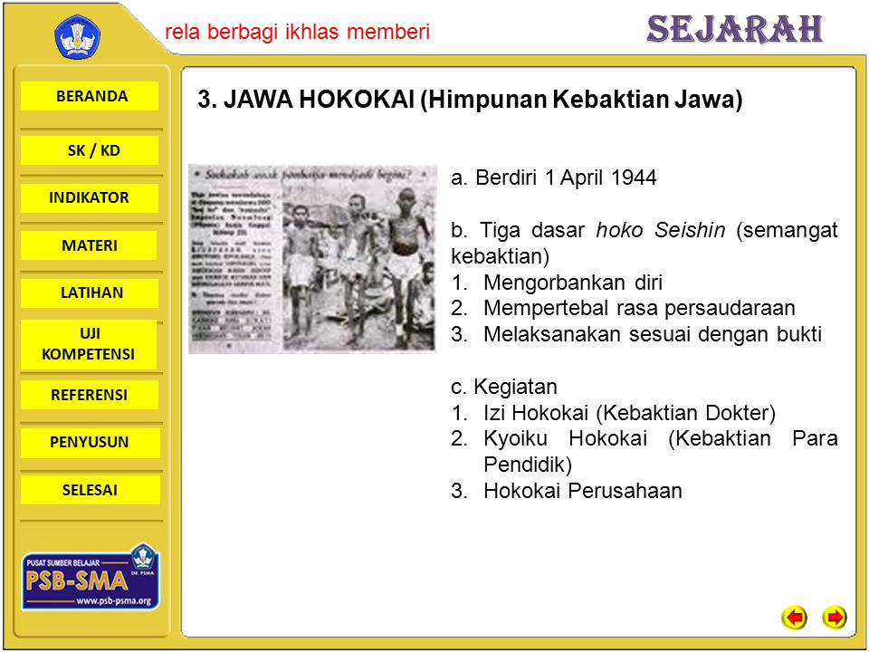3. JAWA HOKOKAI (Himpunan Kebaktian Jawa)