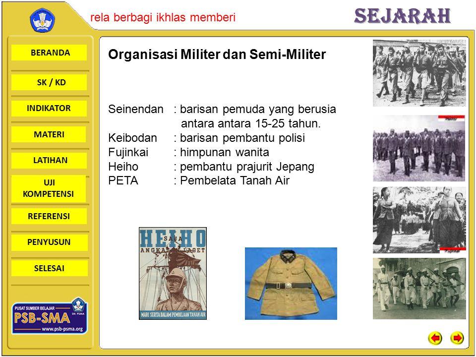 Organisasi Militer dan Semi-Militer