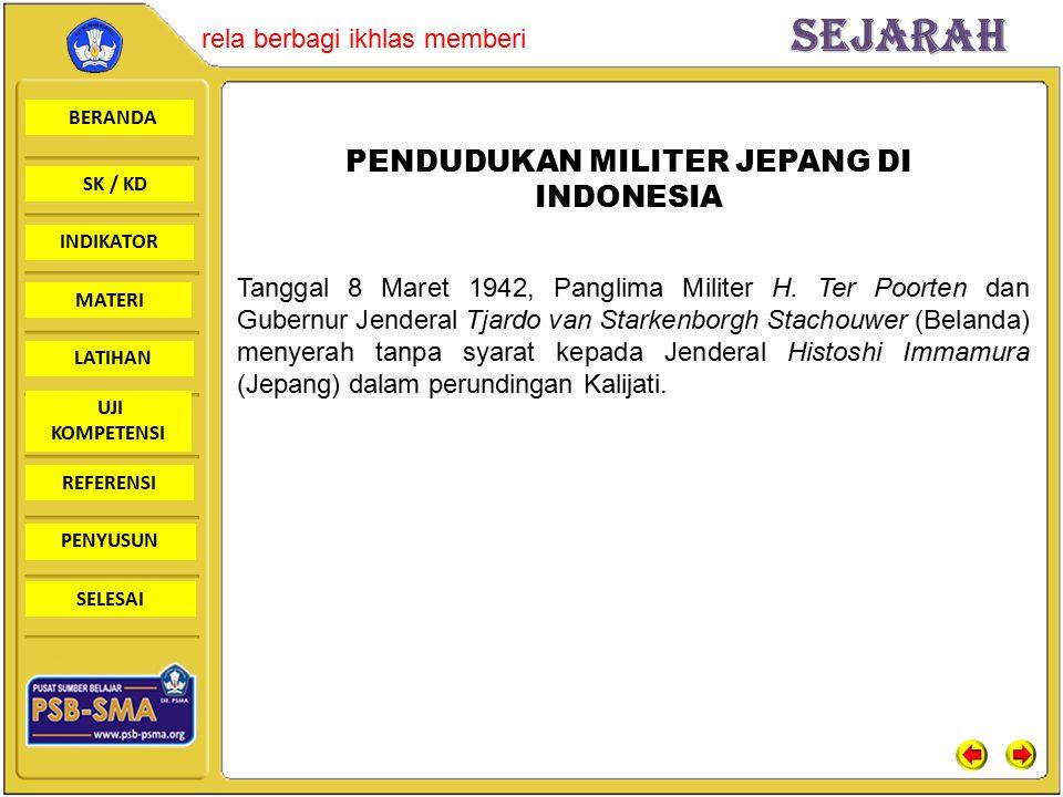 PENDUDUKAN MILITER JEPANG DI INDONESIA