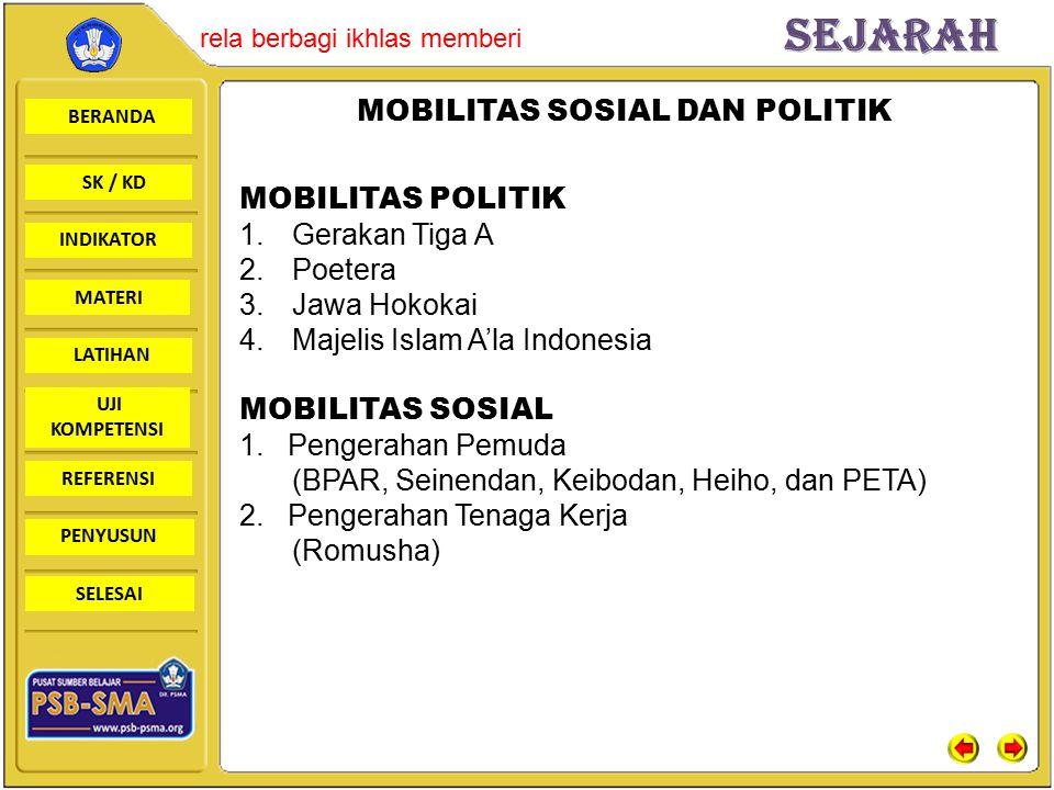 MOBILITAS SOSIAL DAN POLITIK