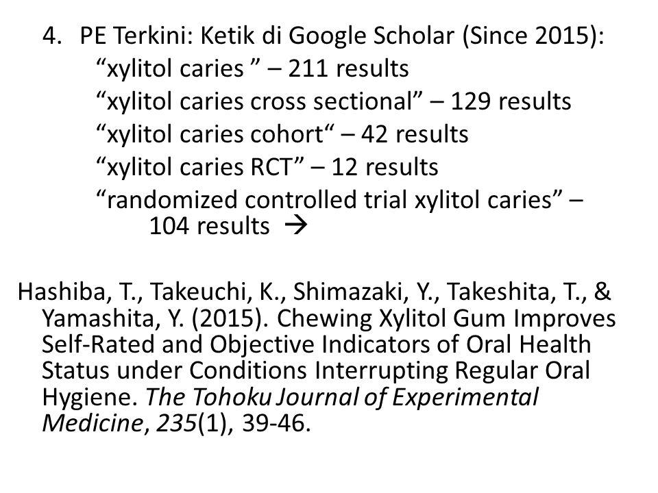 PE Terkini: Ketik di Google Scholar (Since 2015):