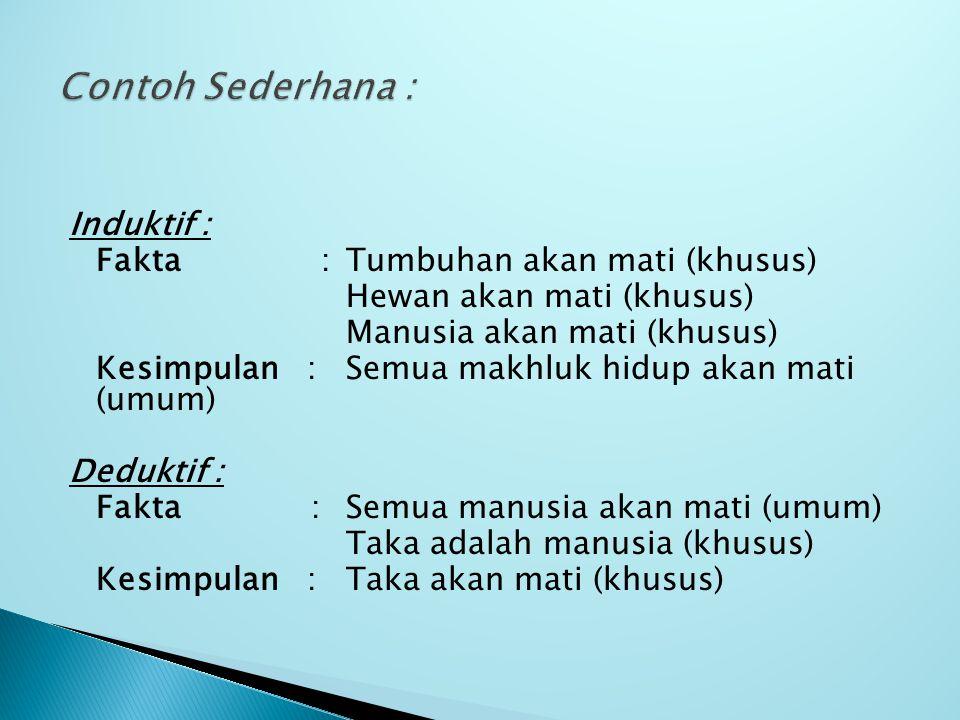 Contoh Sederhana :