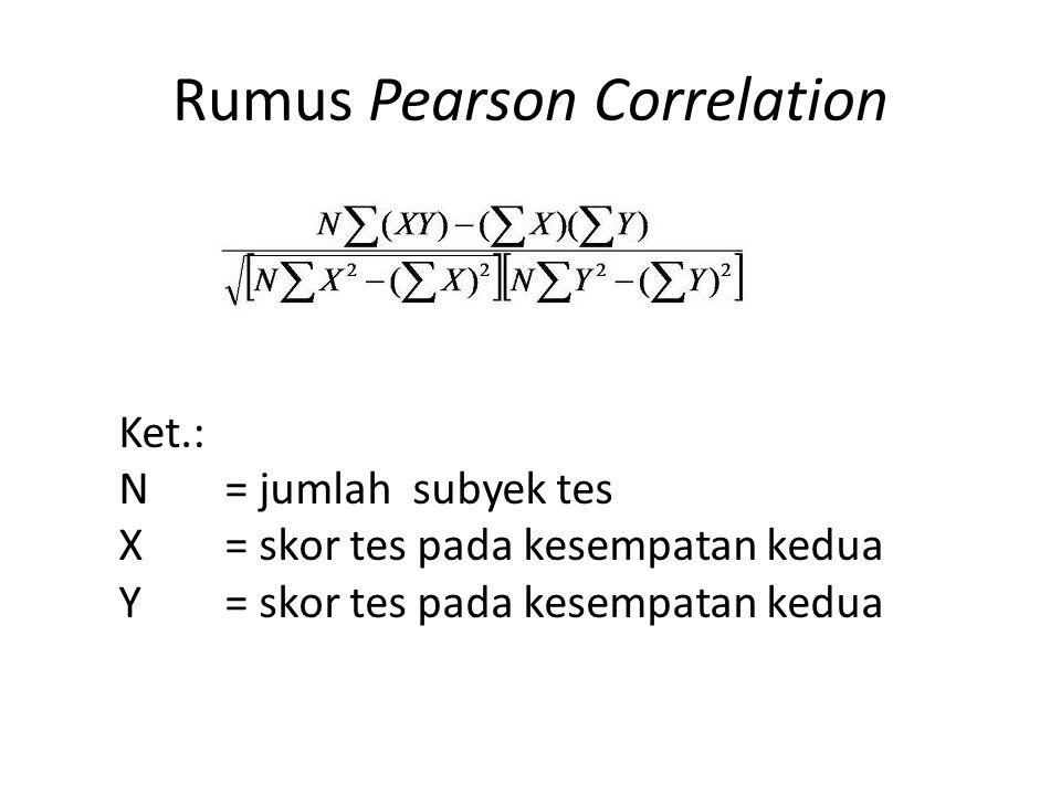Rumus Pearson Correlation