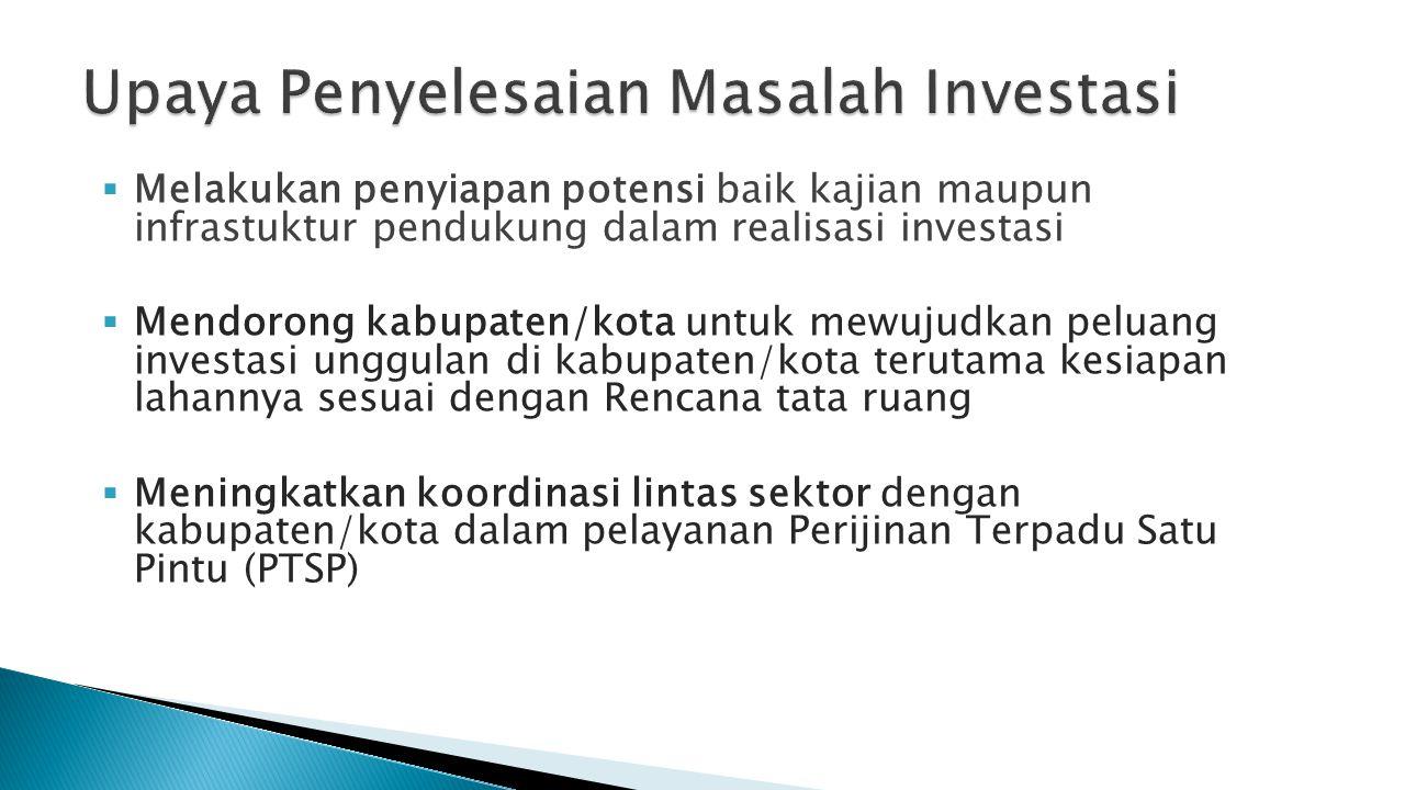 Upaya Penyelesaian Masalah Investasi
