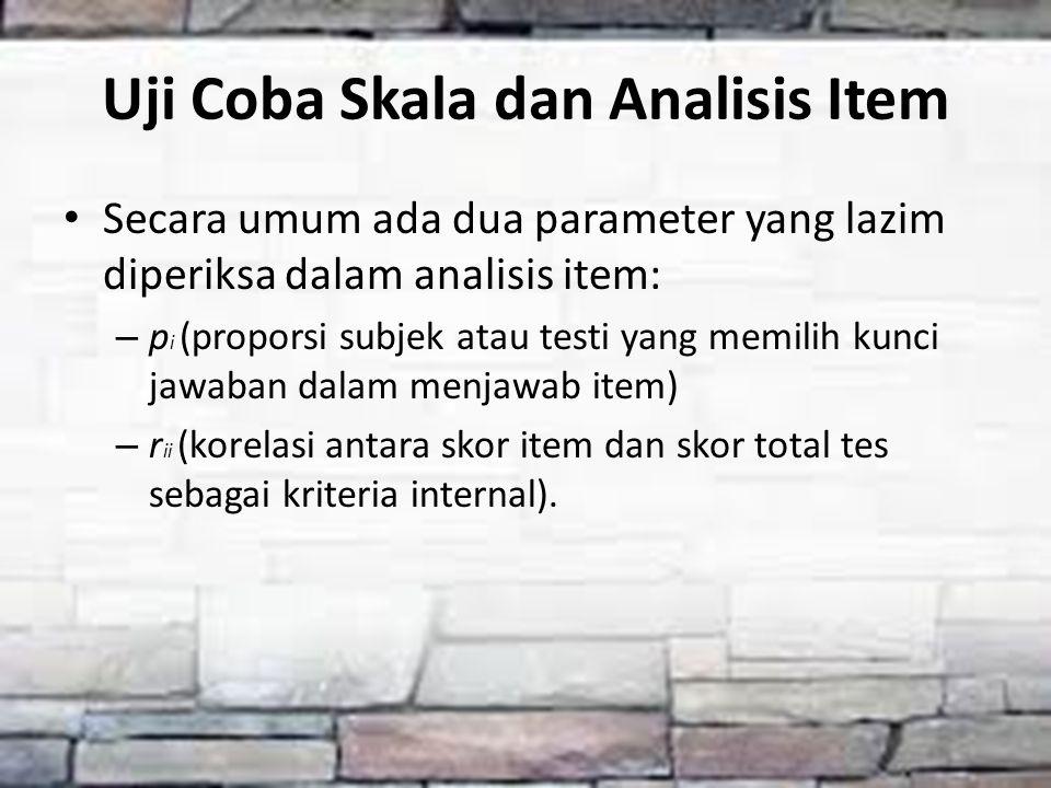 Uji Coba Skala dan Analisis Item