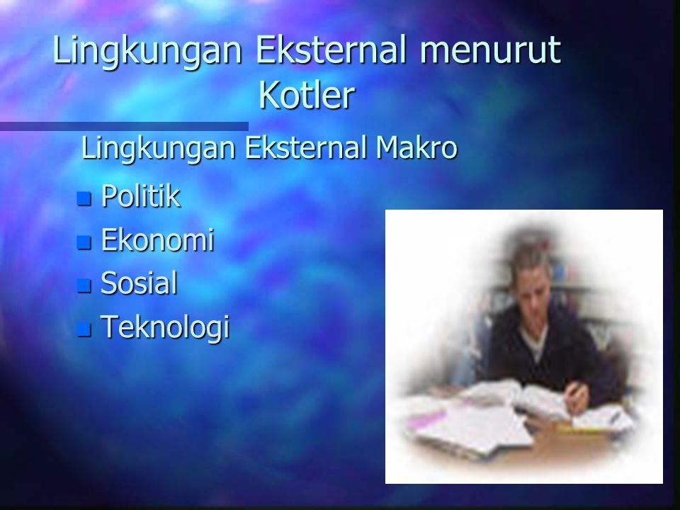 Lingkungan Eksternal menurut Kotler