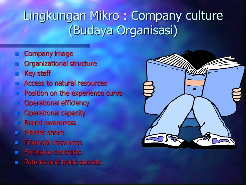 Lingkungan Mikro : Company culture (Budaya Organisasi)