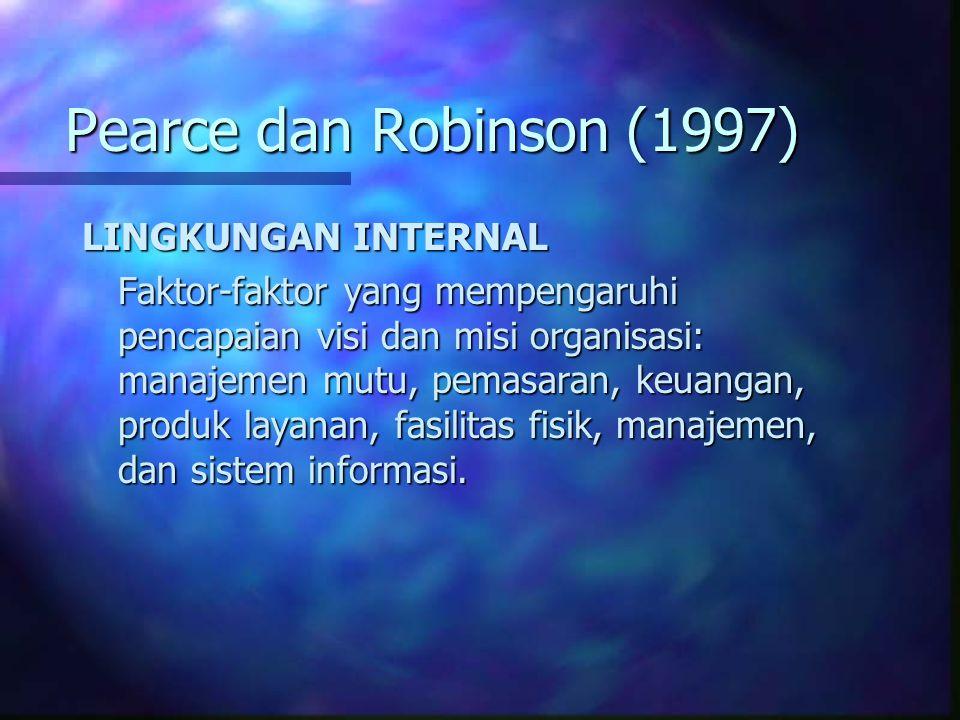 Pearce dan Robinson (1997) LINGKUNGAN INTERNAL