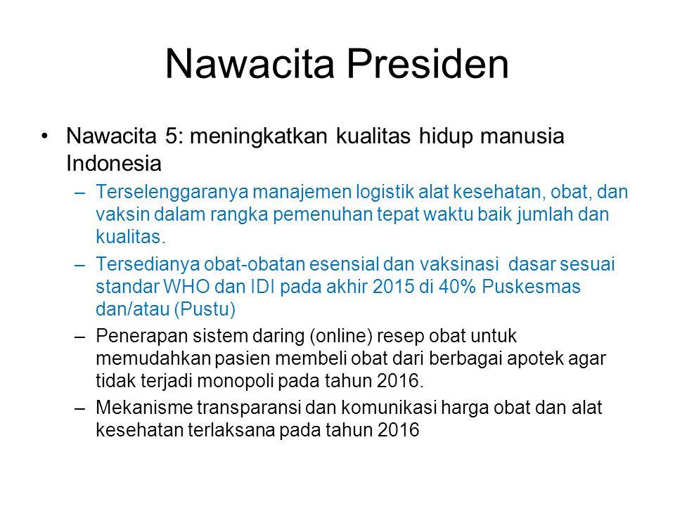Nawacita Presiden Nawacita 5: meningkatkan kualitas hidup manusia Indonesia.
