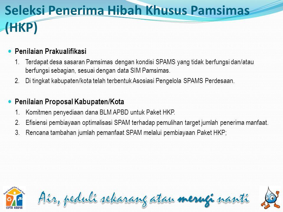 Seleksi Penerima Hibah Khusus Pamsimas (HKP)