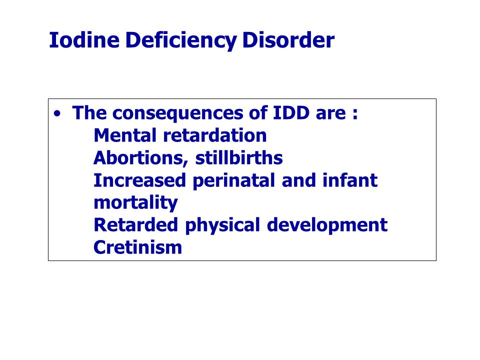 Iodine Deficiency Disorder