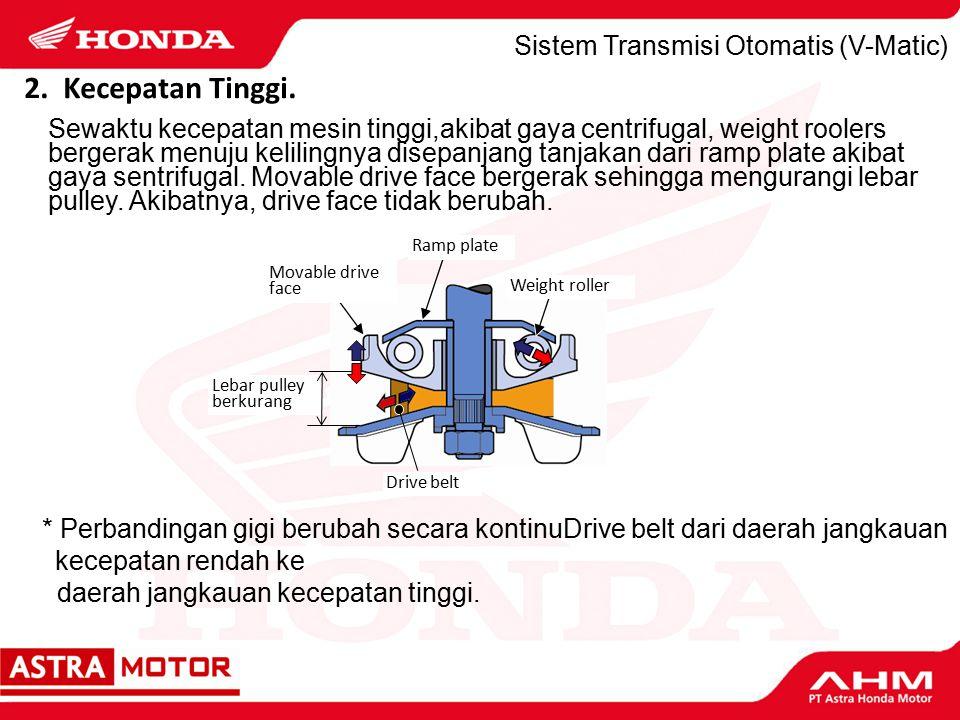 2. Kecepatan Tinggi. Sistem Transmisi Otomatis (V-Matic)