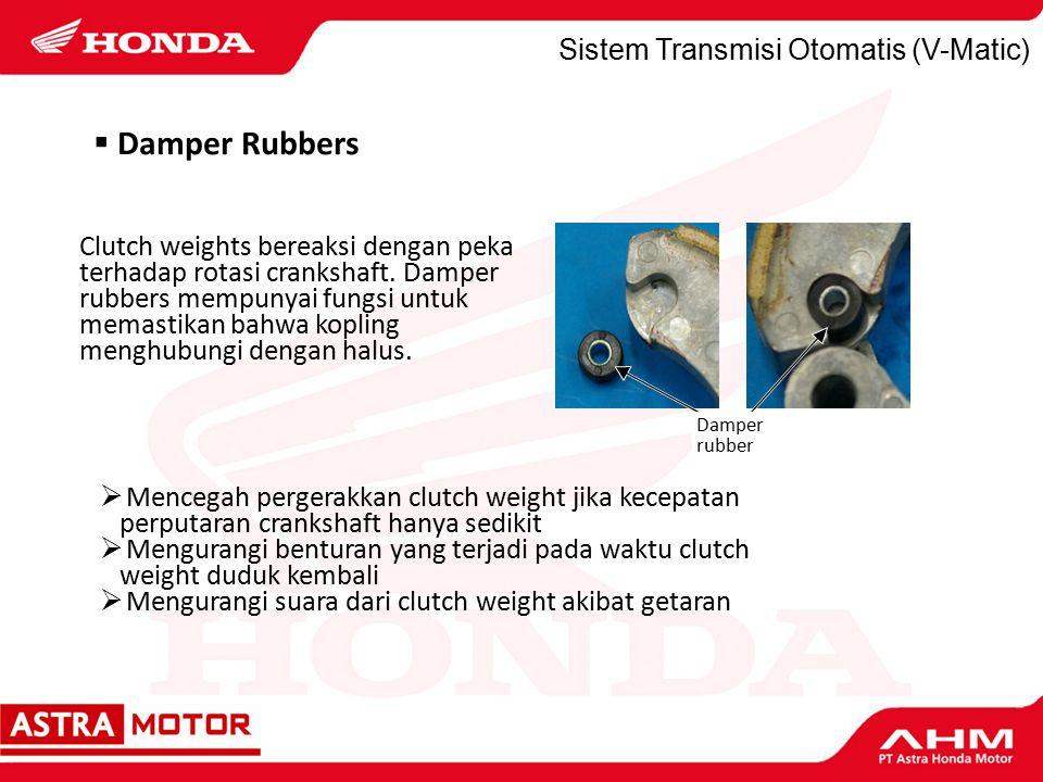Damper Rubbers Sistem Transmisi Otomatis (V-Matic)