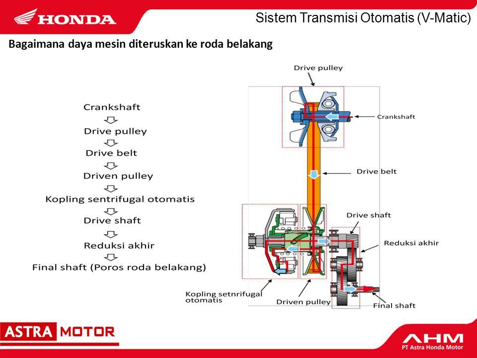 Bagaimana daya mesin diteruskan ke roda belakang