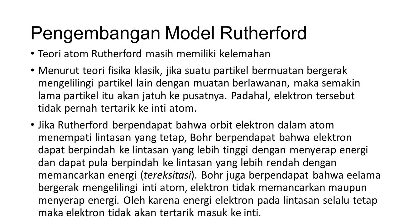 Pengembangan Model Rutherford