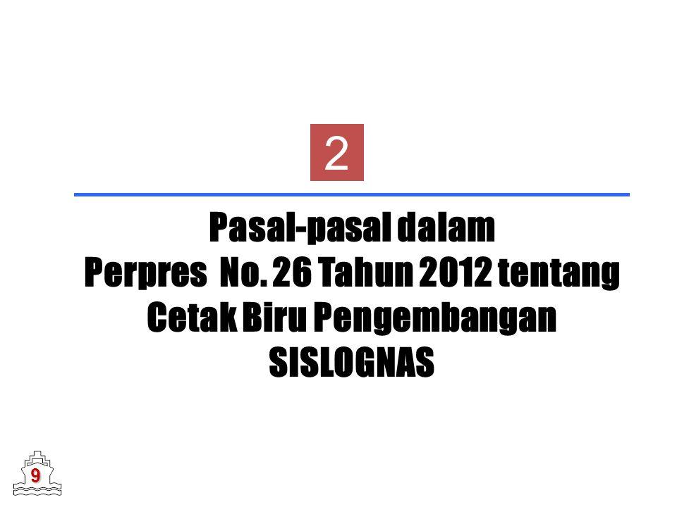 2 Pasal-pasal dalam Perpres No. 26 Tahun 2012 tentang Cetak Biru Pengembangan SISLOGNAS 9