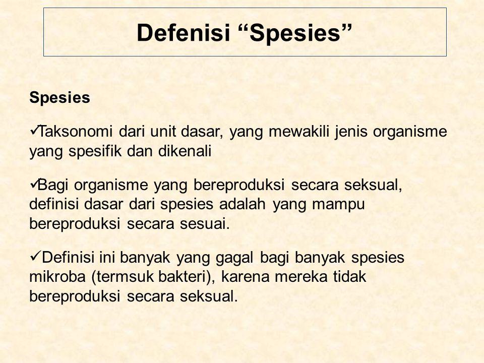 Defenisi Spesies Spesies