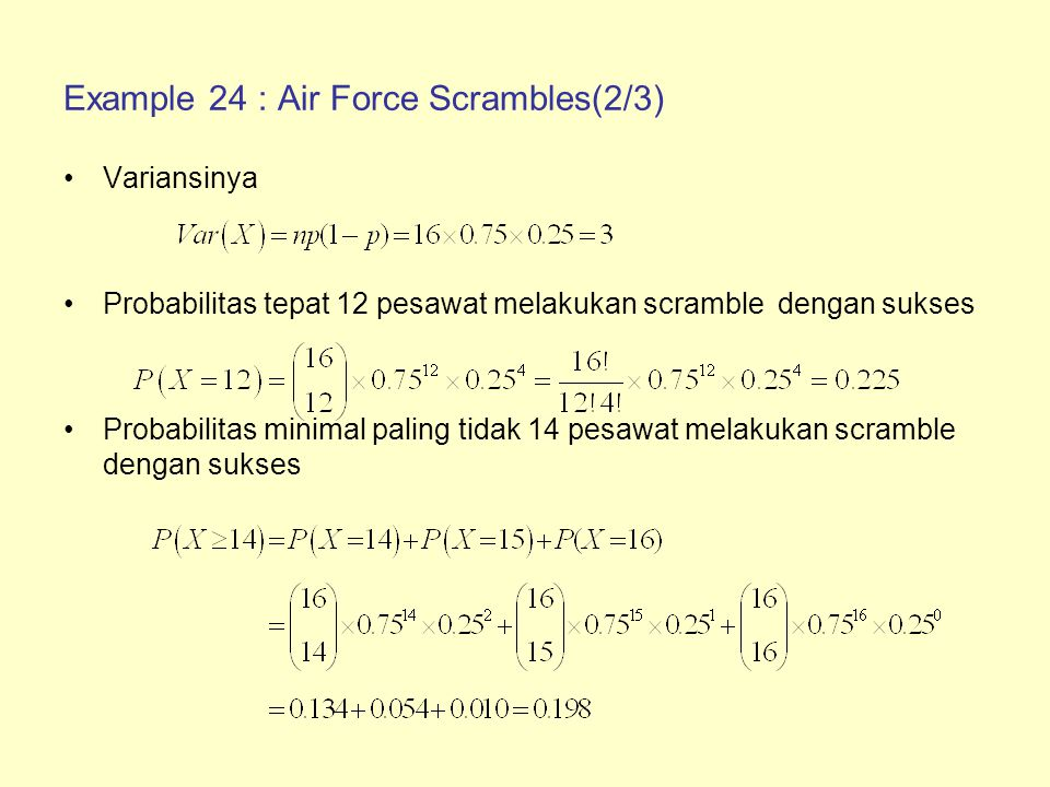 Example 24 : Air Force Scrambles(2/3)