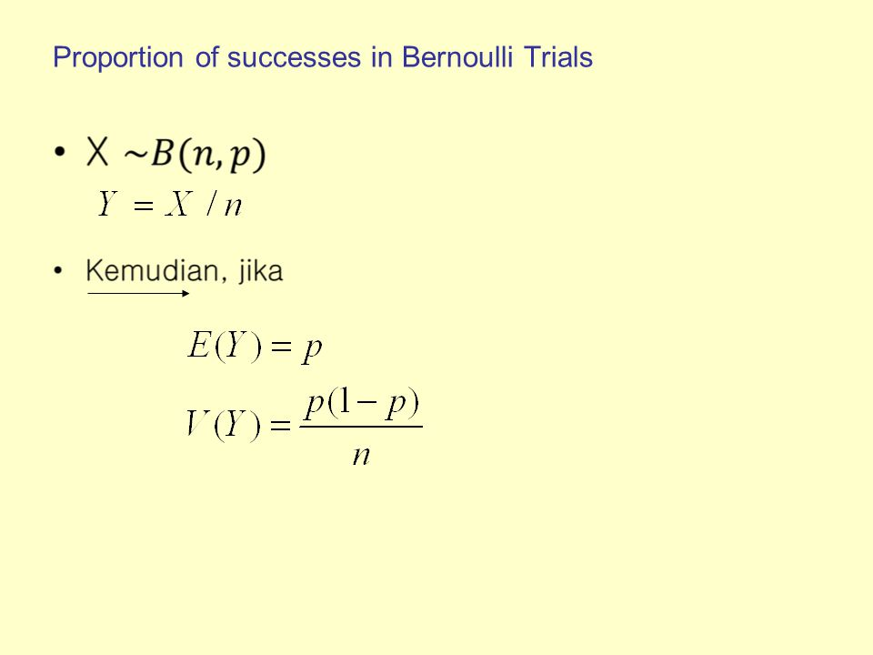 Proportion of successes in Bernoulli Trials