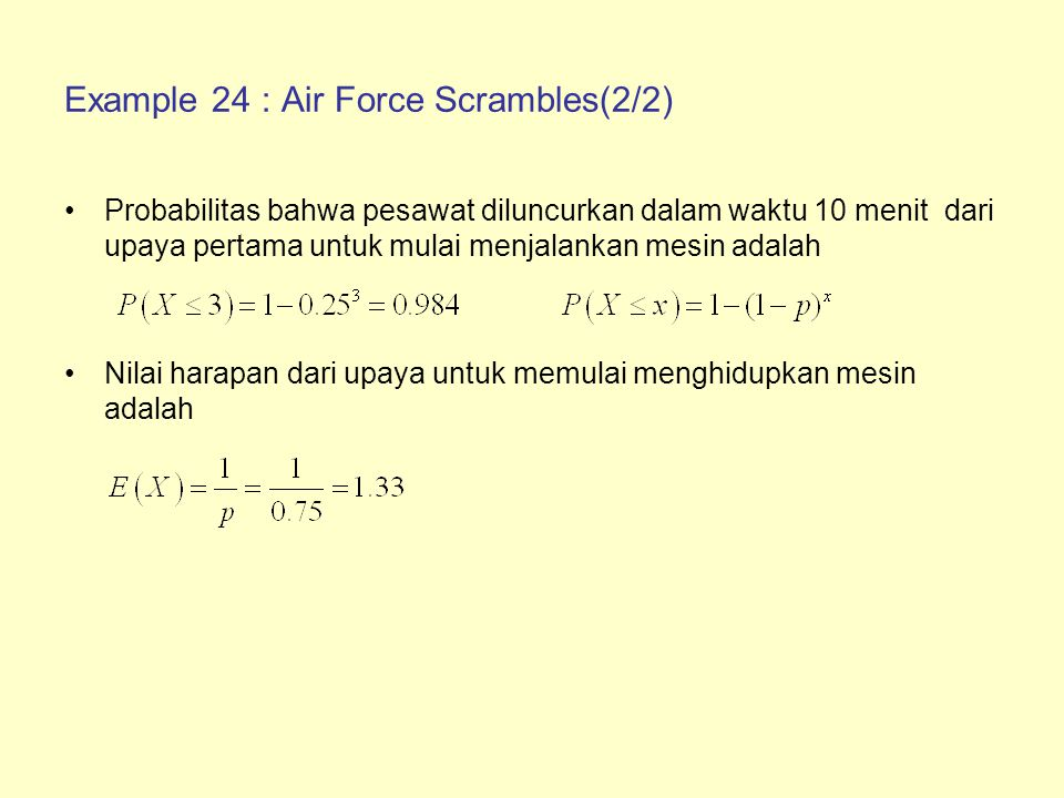 Example 24 : Air Force Scrambles(2/2)