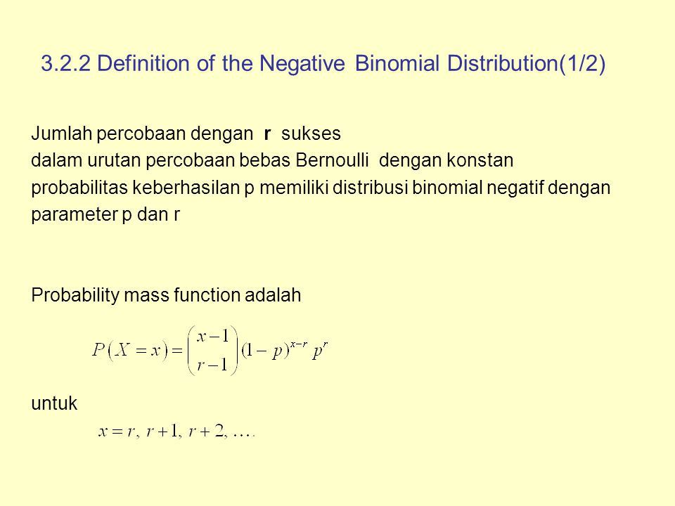 3.2.2 Definition of the Negative Binomial Distribution(1/2)