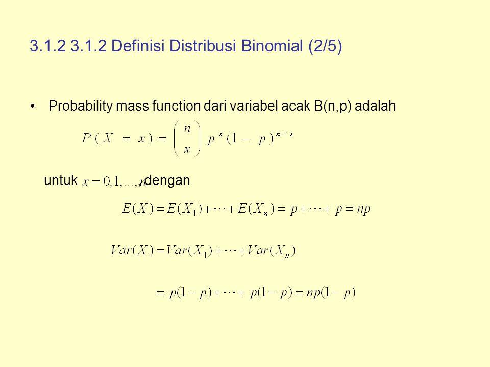 3.1.2 3.1.2 Definisi Distribusi Binomial (2/5)