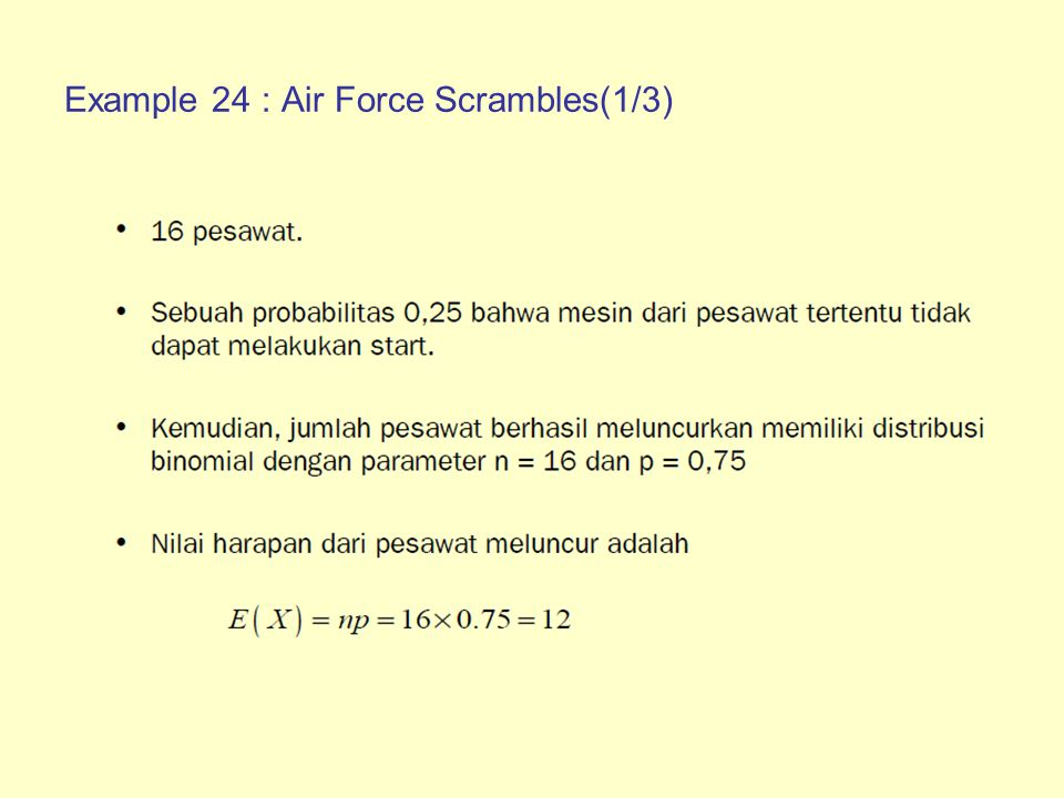 Example 24 : Air Force Scrambles(1/3)