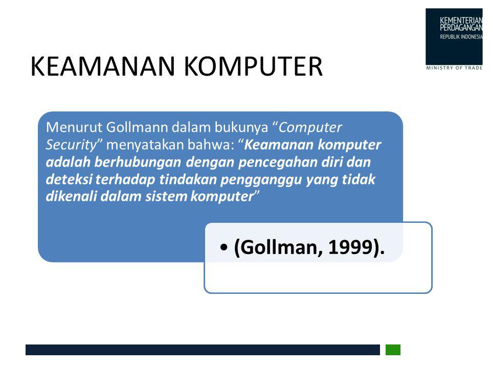 KEAMANAN KOMPUTER (Gollman, 1999).