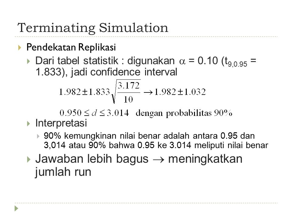 Terminating Simulation