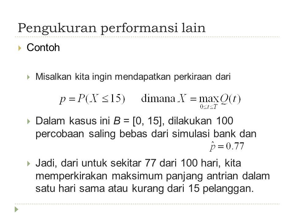 Pengukuran performansi lain