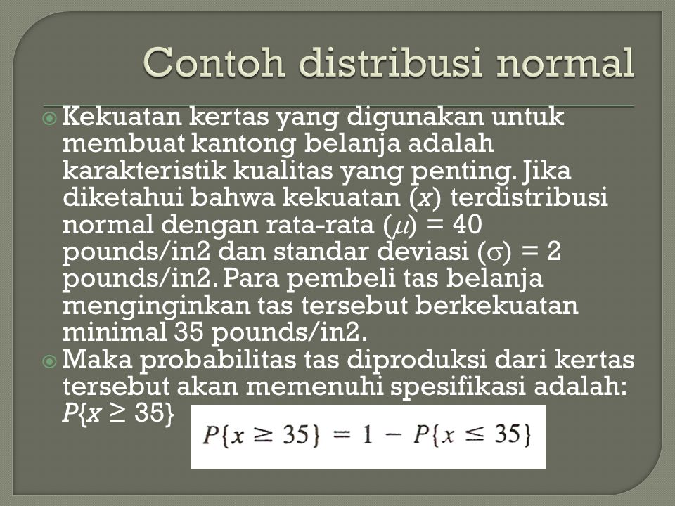Contoh distribusi normal