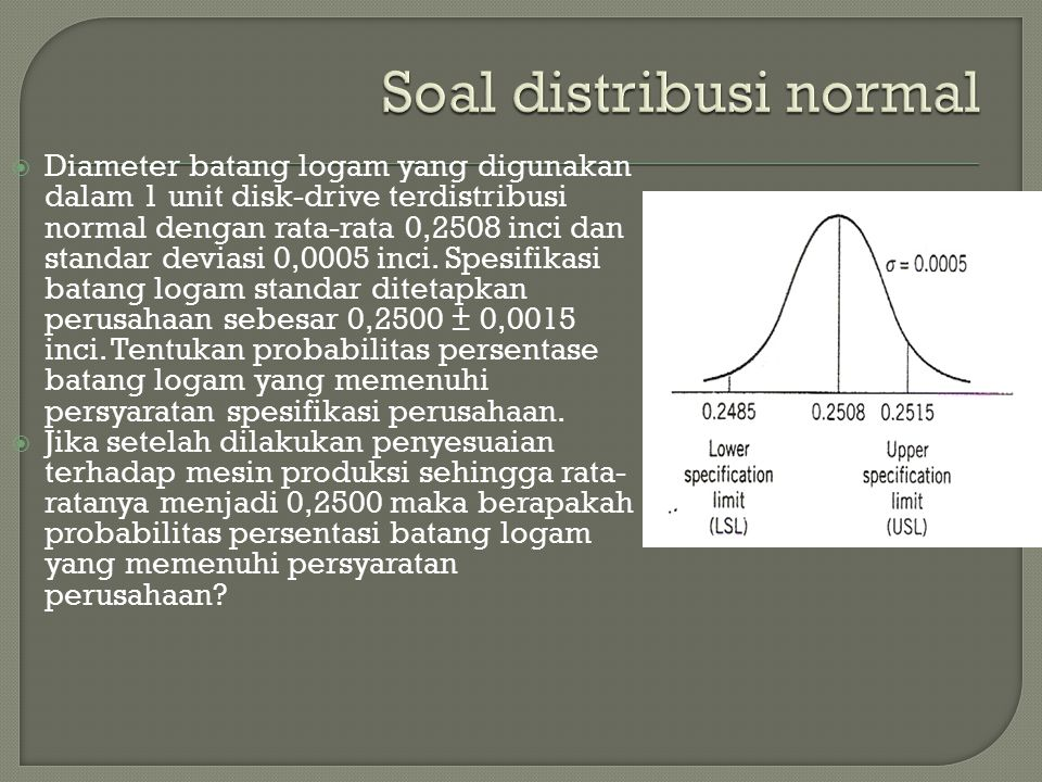 Soal distribusi normal