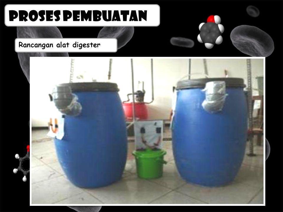 Proses pembuatan Rancangan alat digester