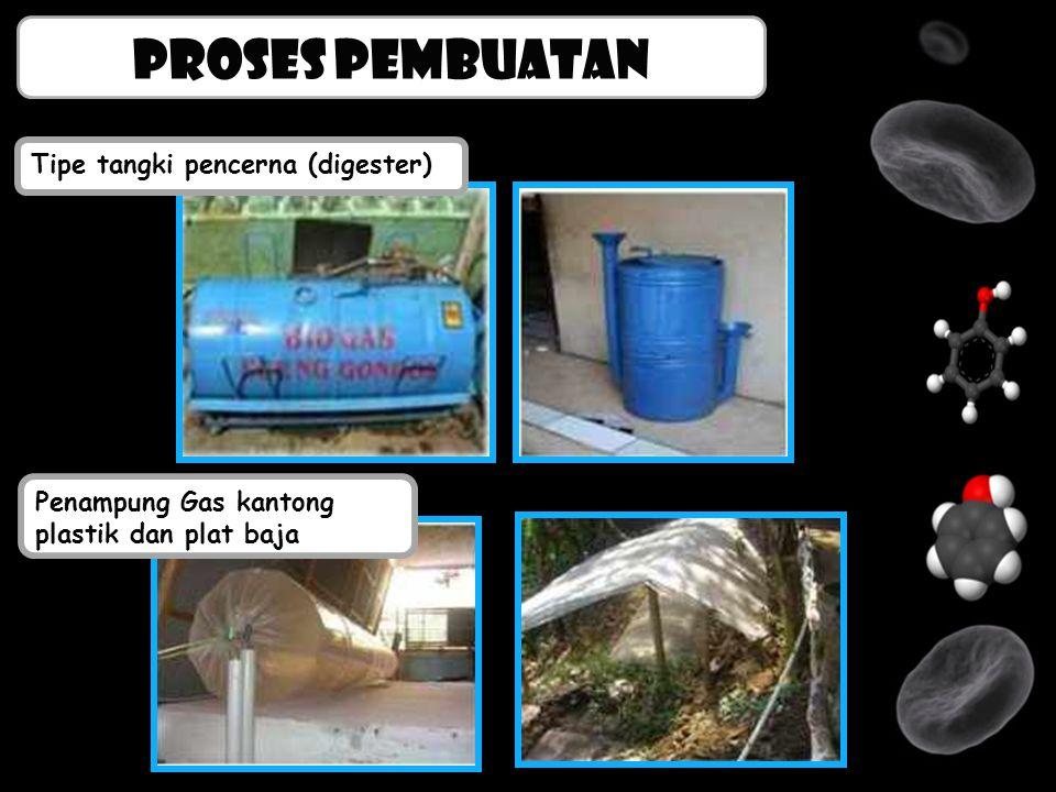 Proses pembuatan Tipe tangki pencerna (digester)