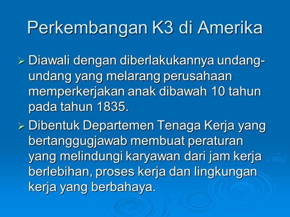 Perkembangan K3 di Amerika