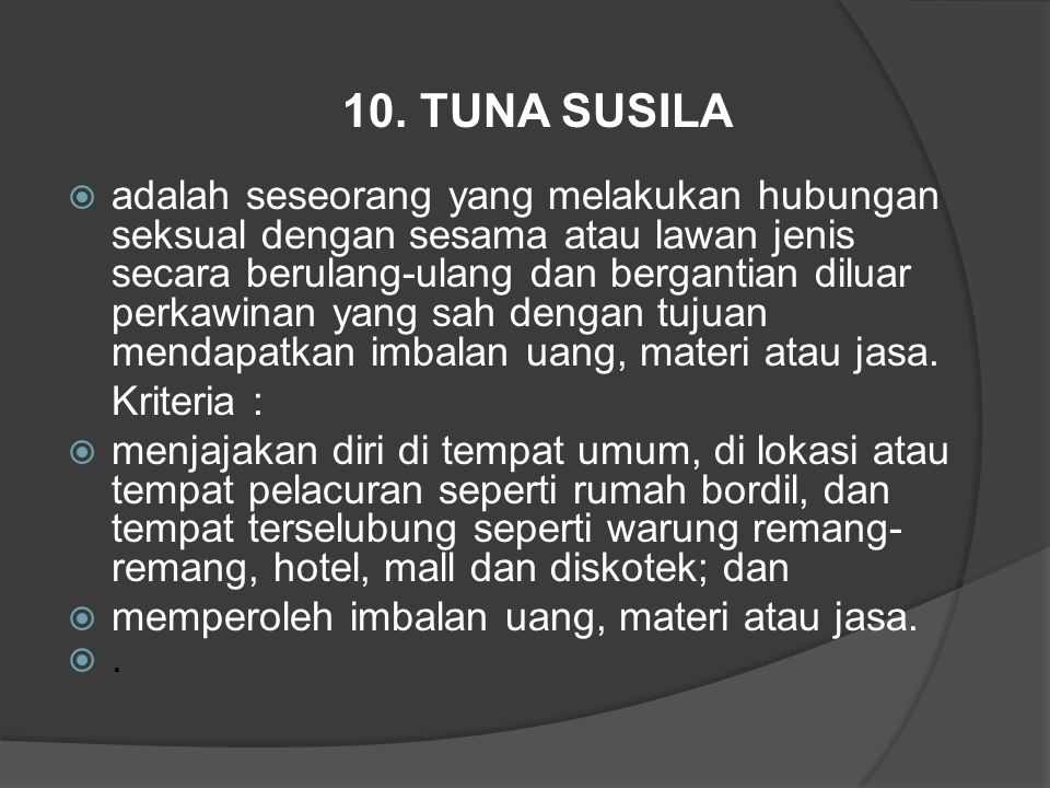 10. TUNA SUSILA