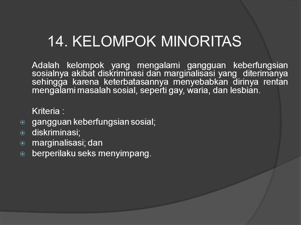 14. KELOMPOK MINORITAS