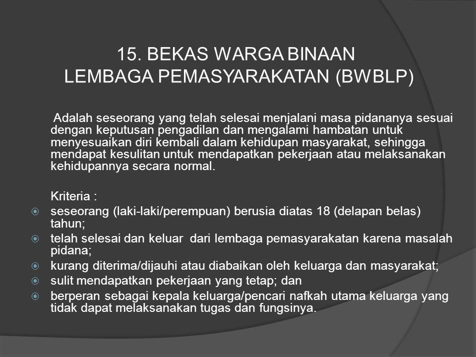 LEMBAGA PEMASYARAKATAN (BWBLP)