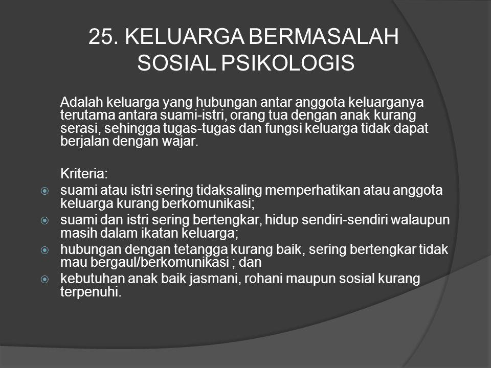25. KELUARGA BERMASALAH SOSIAL PSIKOLOGIS