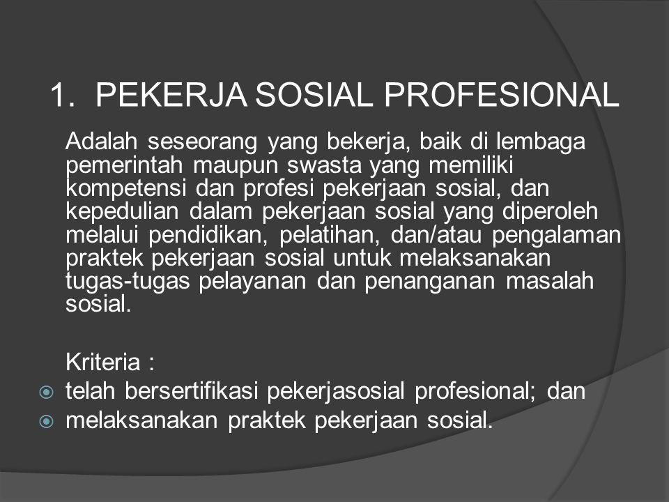 1. PEKERJA SOSIAL PROFESIONAL
