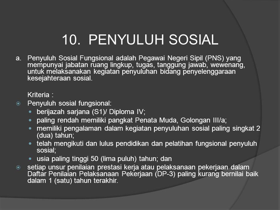10. PENYULUH SOSIAL